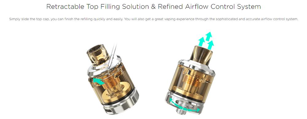 Wismec Amor NSE Atomizer Filling Airflow