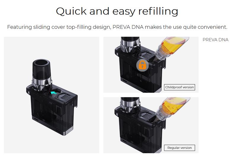 Wismec Preva DNA Pod Kit Refilling