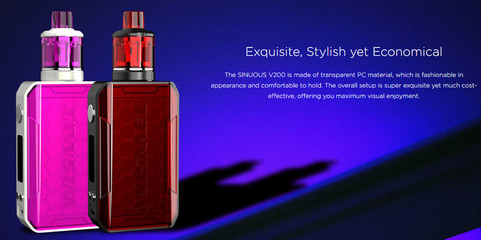 Wismec SINUOUS V200 Design