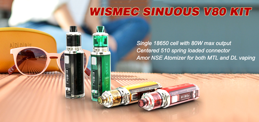 Wismec SINUOUS V80 Kit Banner