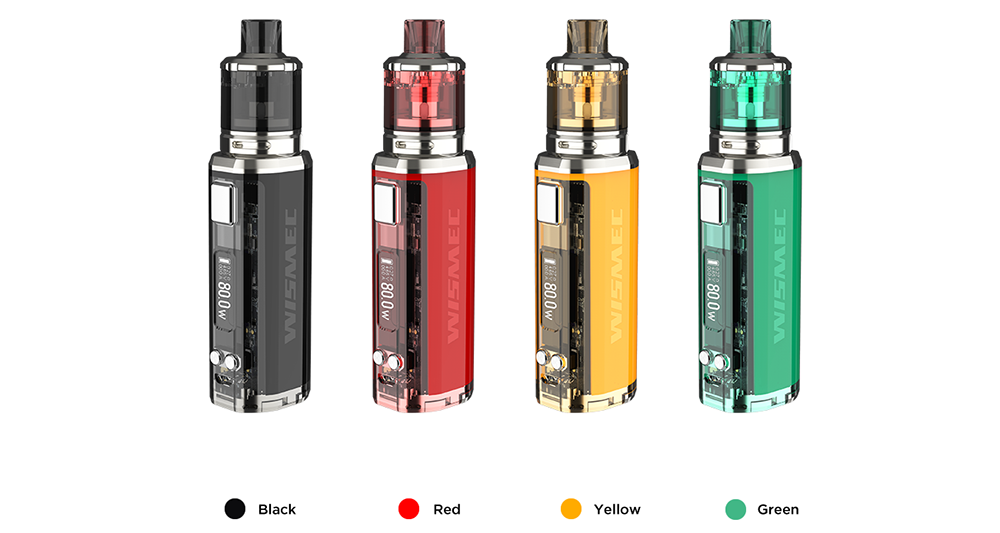 Wismec SINUOUS V80 Kit with Amor NSE Atomizer Colors