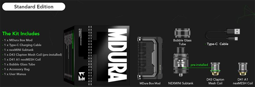 Wotofo MDura Kit package