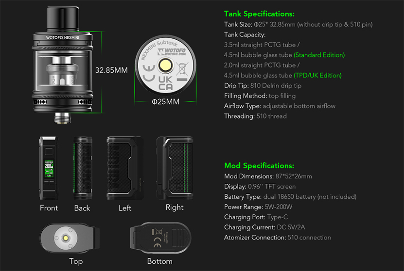 Wotofo MDura Kit specification
