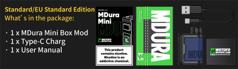 Wotofo MDura Mini Mod Package