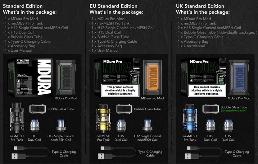 Wotofo MDura Pro Kit Package