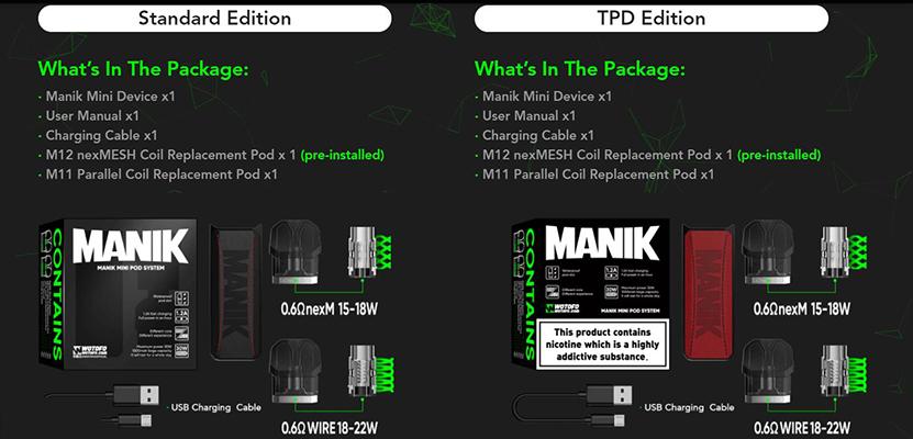 Wotofo Manik Mini Kit Package
