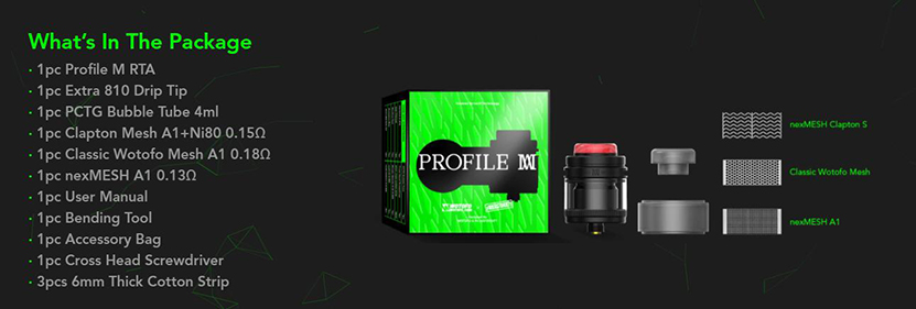 Wotofo Profile M RTA Package