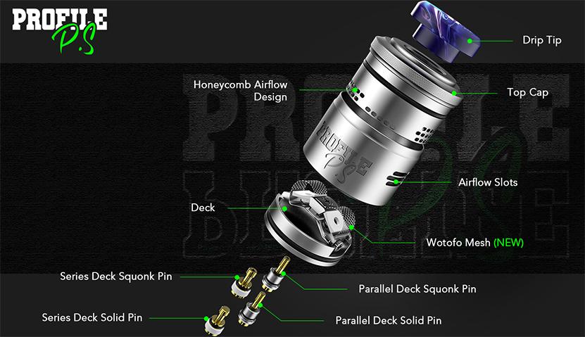 Wotofo Profile PS Dual Mesh RDA Feature 3