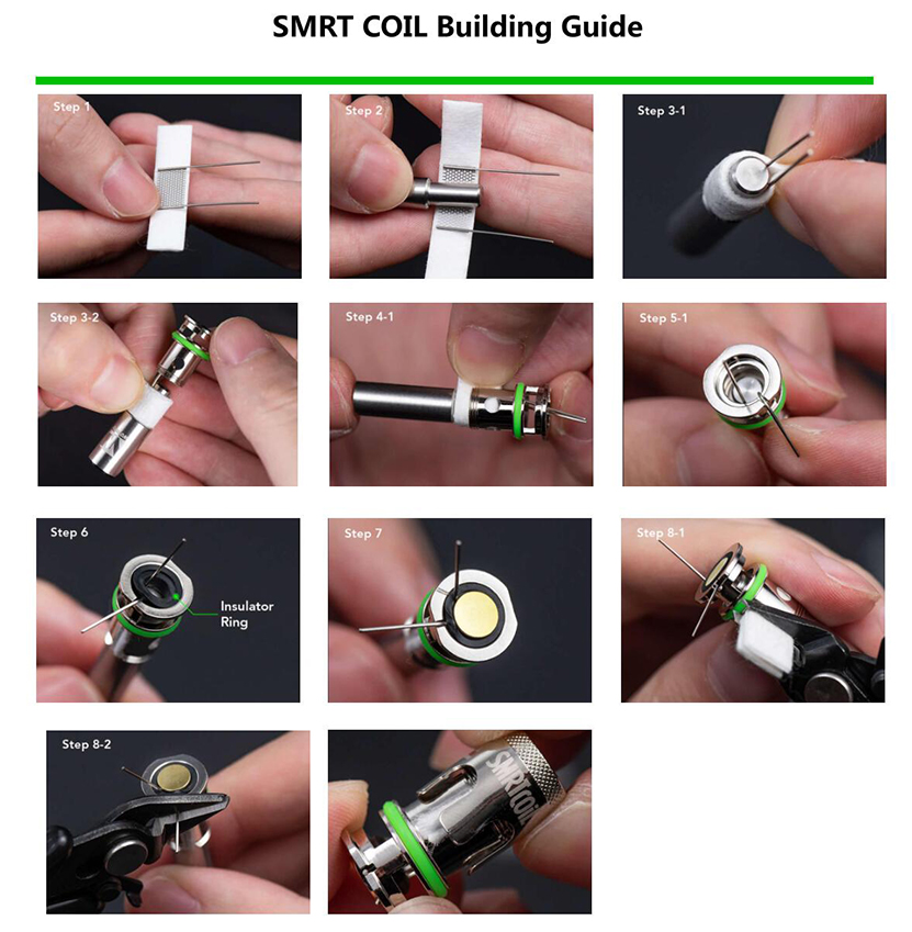 Wotofo SMRT PnP Rebuilable Coil Building Guide
