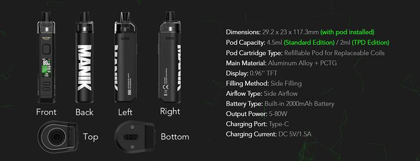 Wotofo SMRT Pod Kit Feature 7