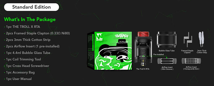 Wotofo The Troll X RTA Package