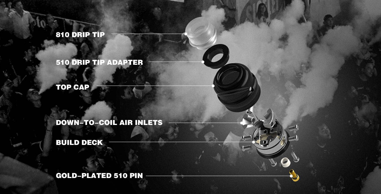 Wotofo Elder Dragon RDA Features 5