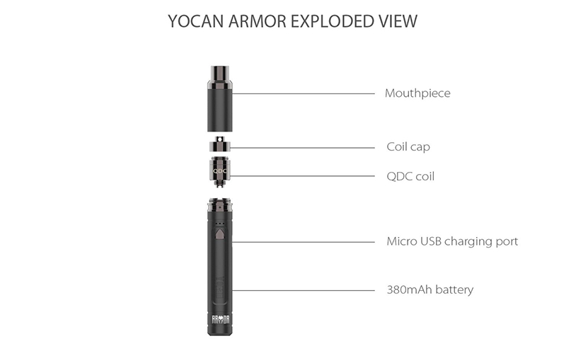 Yocan Armor Vaporizer Kit Feature 7