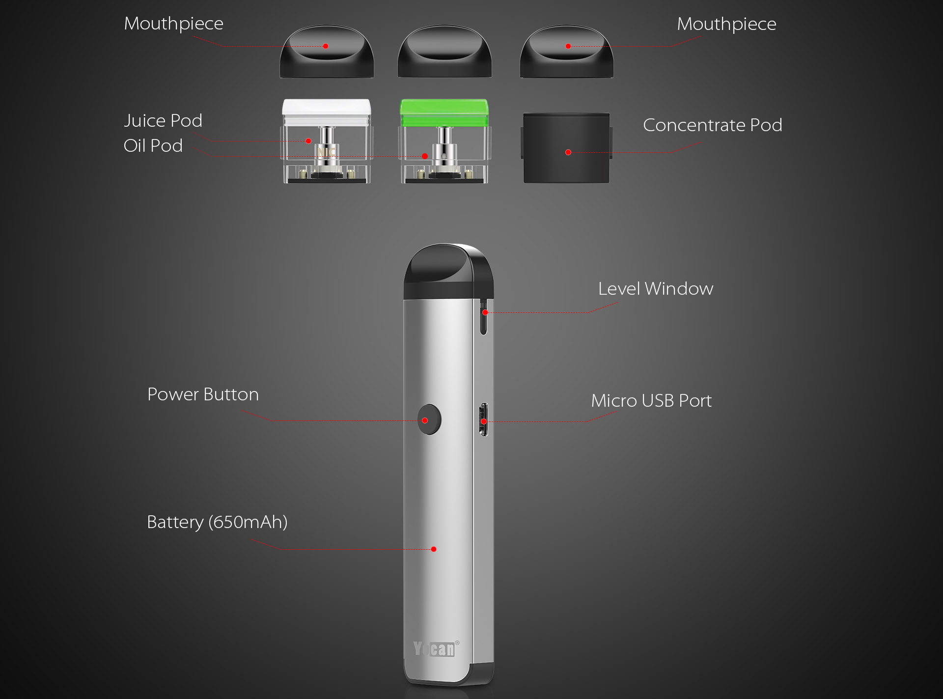 Yocan Evolve 2.0 Kit Features 01