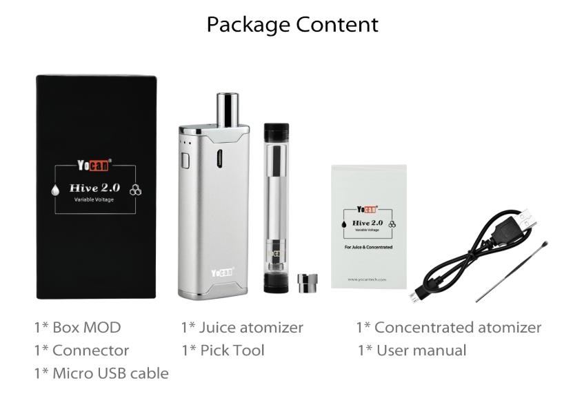 Yocan Hive 2.0 Vaporizer Kit Package