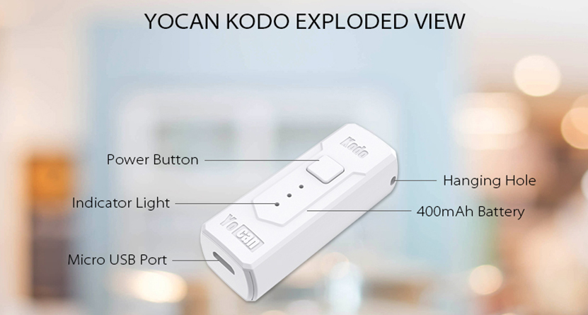 Kodo Box Mod Battery Exploded View