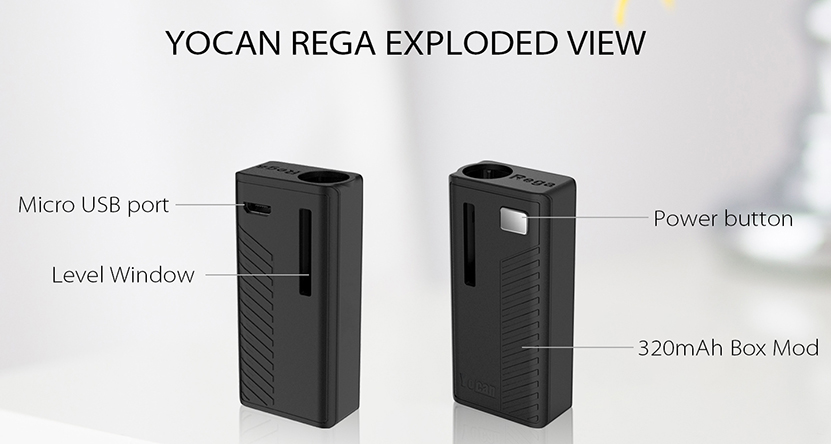 Yocan Rega Box Mod Battery View