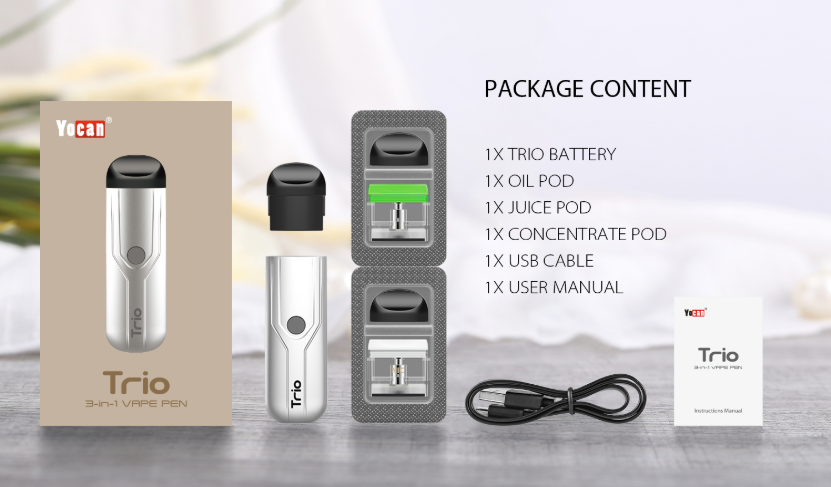 Yocan Trio Ultra-Portable Kit Package