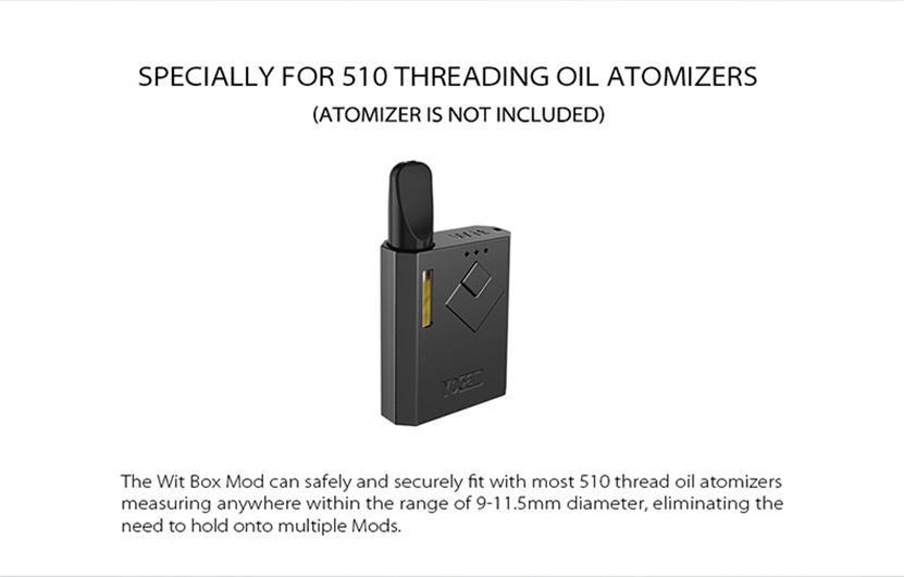 Yocan Wit Box Mod For 510 Threading Oil Atomizers