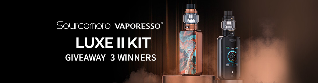 Sourcemore & Vaporesso LUXE II Kit Giveaway