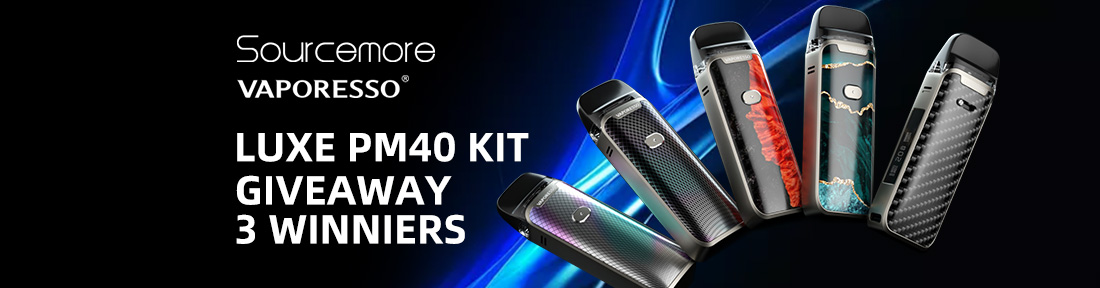 Sourcemore & Vaporesso Luxe PM40 Kit Giveaway