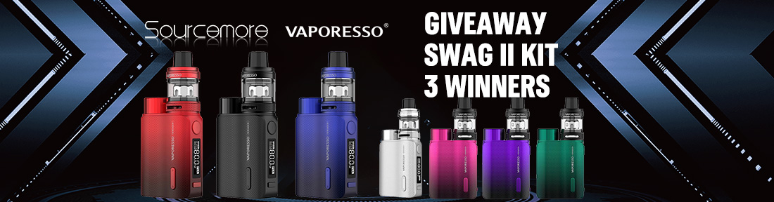 Sourcemore & Vaporesso Swag II Kit Giveaway
