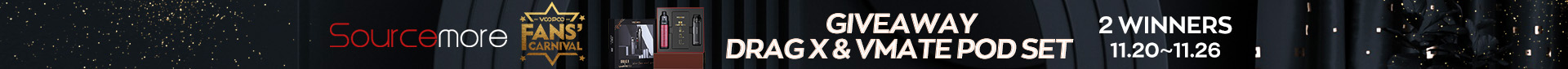 Sourcemore & VOOPOO Drag X + VMATE Pod Set Giveaway