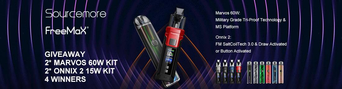 Sourcemore x Freemax Marvos 60W & Onnix 2 15W Kits