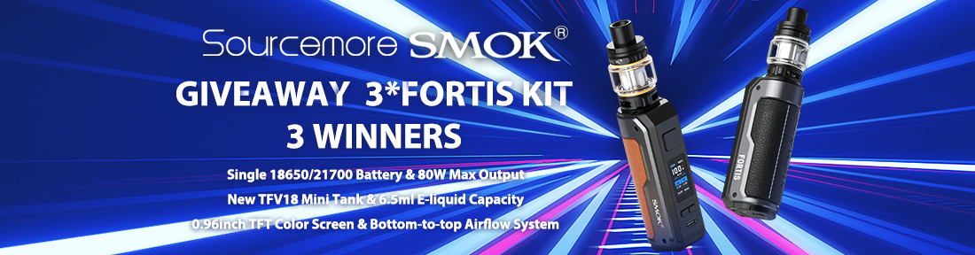 Sourcemore x SMOK Fortis Kit Giveaway
