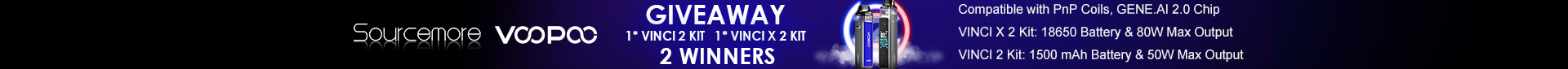 VOOPOO VINCI 2 and X 2 Kit Giveway Top Banner