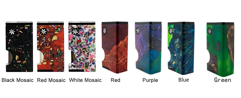 asMODus Luna Squonker Box Mod Colors