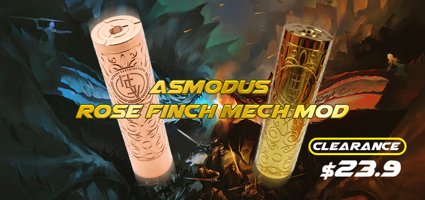 asMODus Rose Finch Mech Mod Clearance
