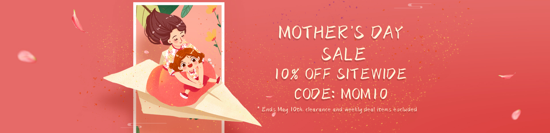2021 Mother Day 10off Banner