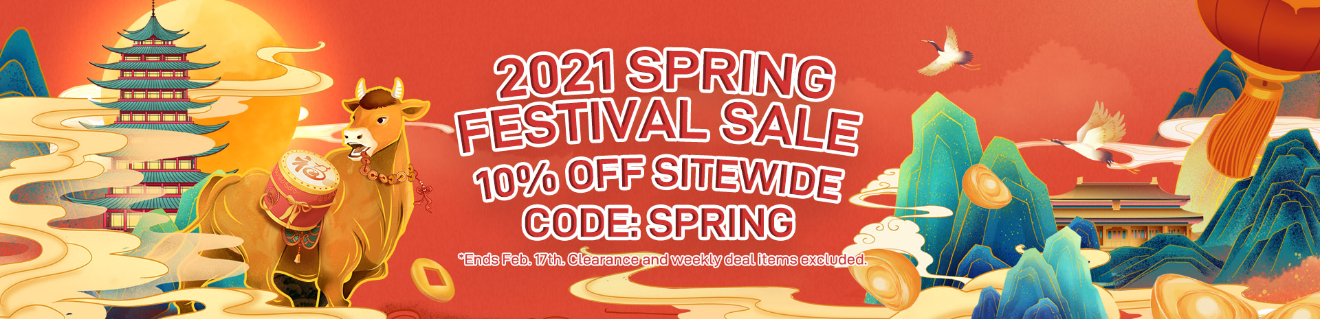 2021 Spring Holiday 10off Sale Banner