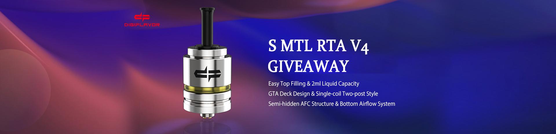 Digiflavor Siren MTL RTA V4 Giveaway Banner