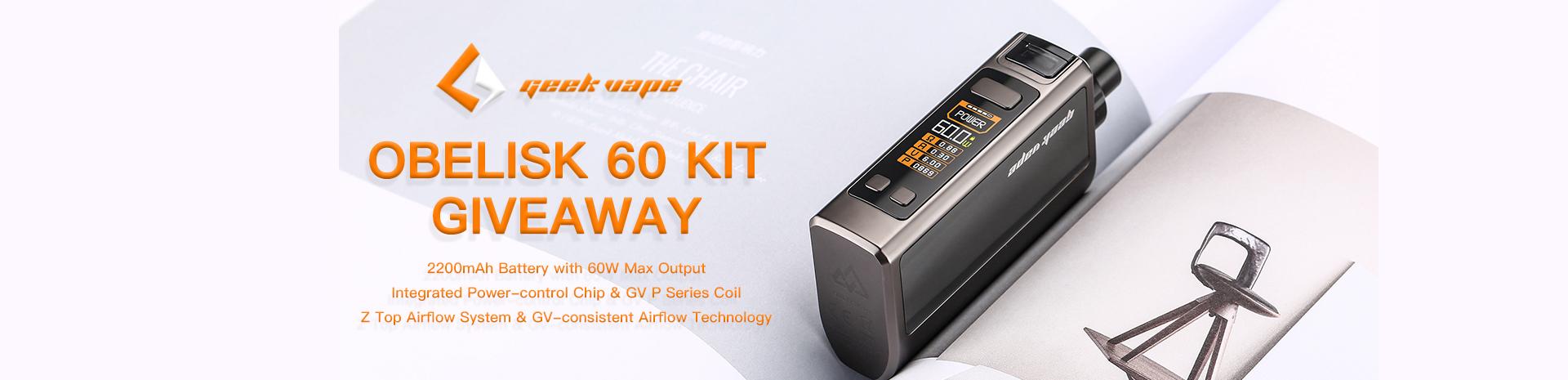 GeekVape Obelisk 60 Kit Giveaway Banner
