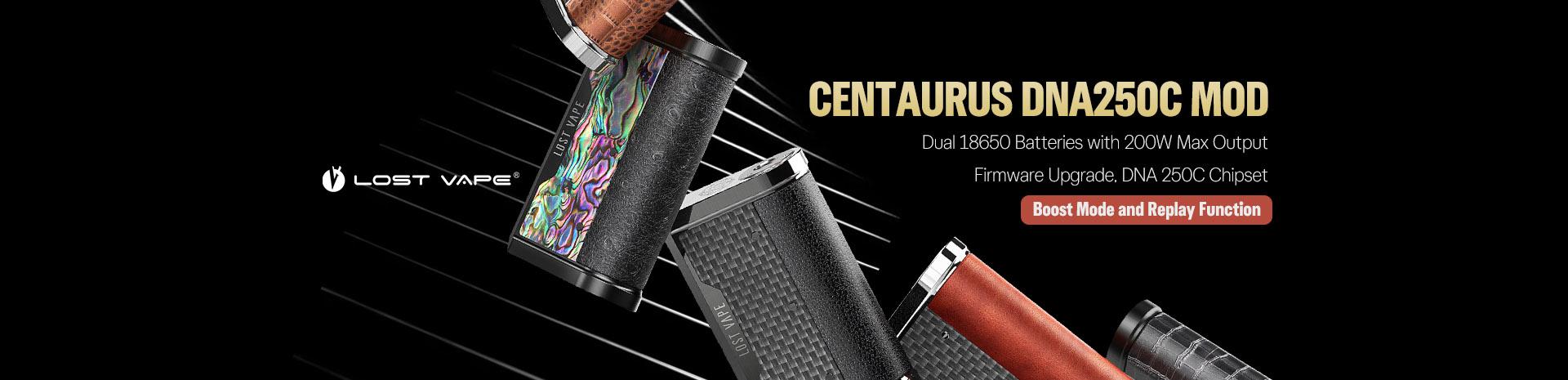 Lost Vape Centaurus DNA250C Mod Banner