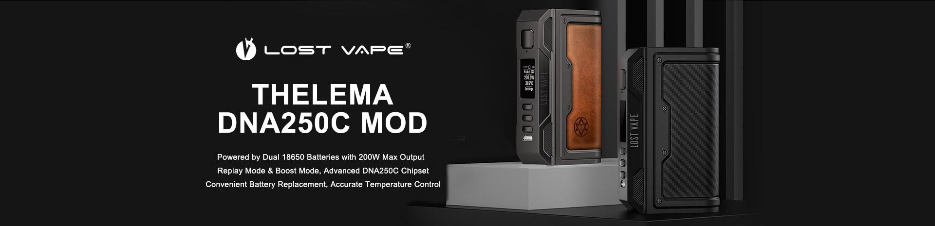 Lost Vape Thelema DNA250C Box Mod Banner
