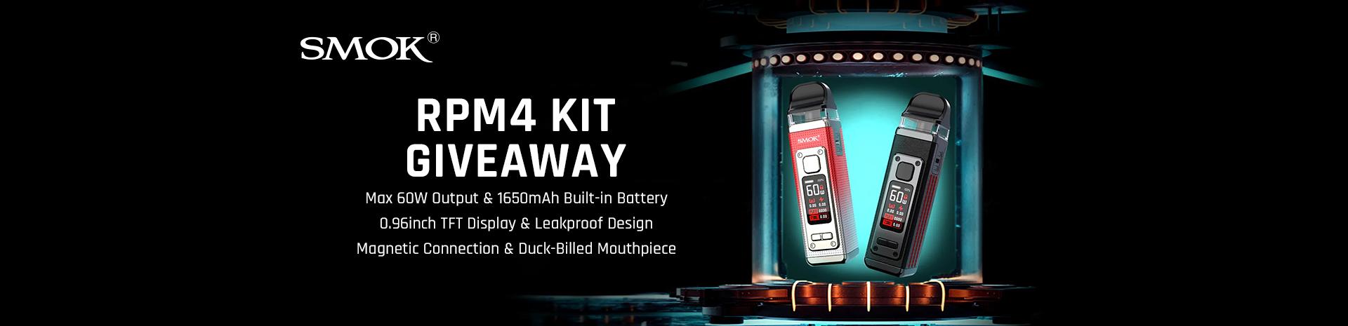 SMOK RPM 4 Kit Giveaway Banner