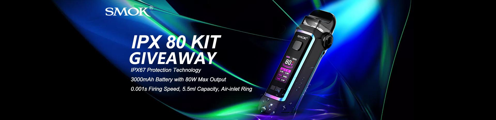Smok IPX 80 Kit Giveaway Banner