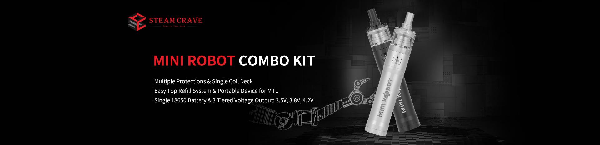 Steam Crave Mini Robot Combo Kit Banner