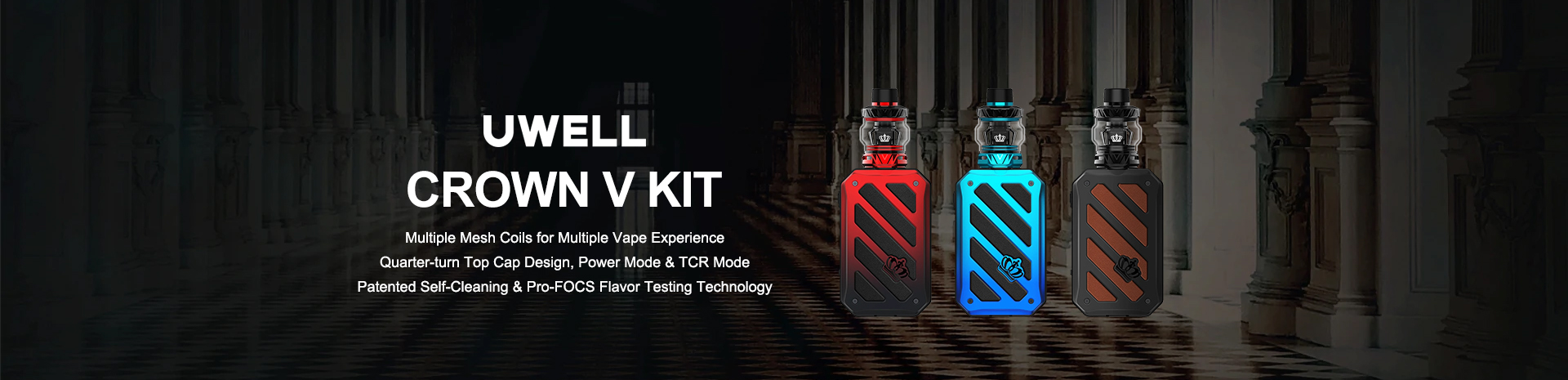 Uwell Crown V Kit Banner