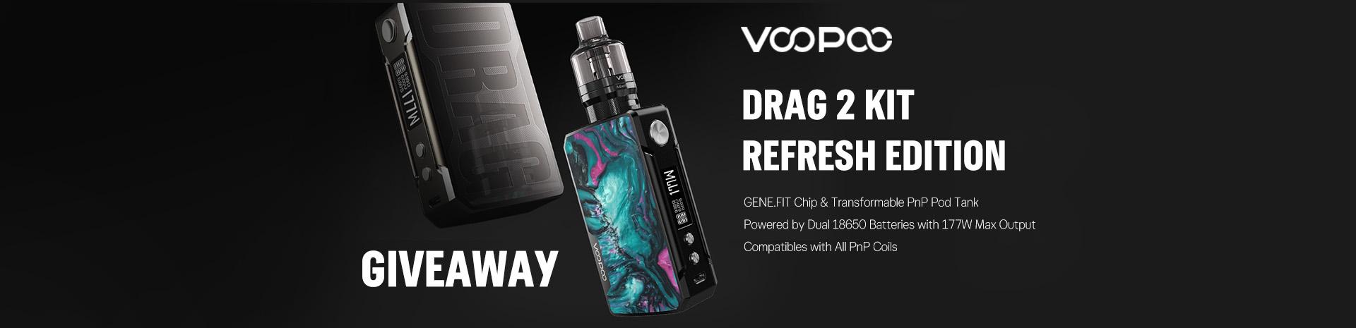 VOOPOO Drag 2 Kit Giveaway