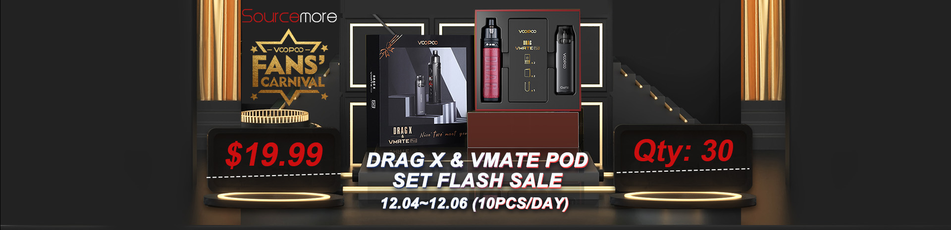 VOOPOO Drag X and Vmate Pod Set Flash Sale Banner