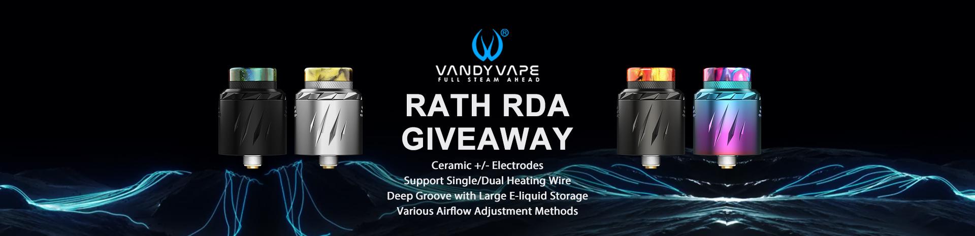 Vandy Vape Rath RDA Giveaway Banner