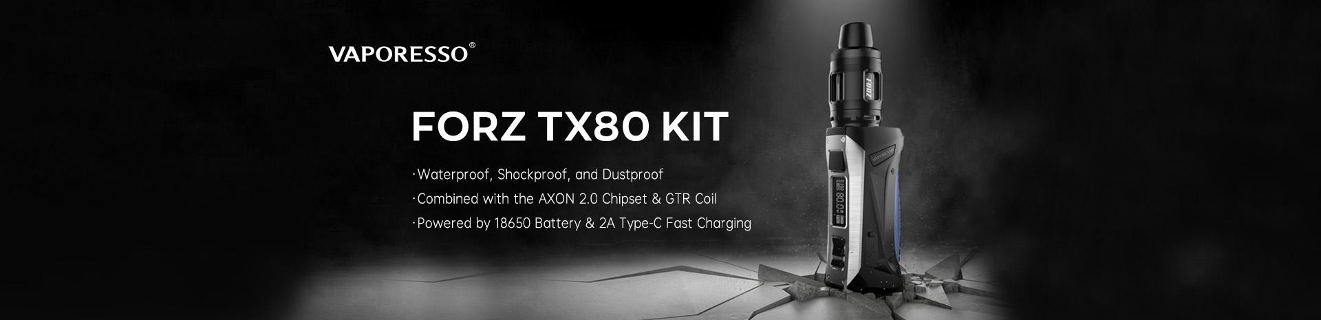 Vaporesso FORZ TX80 Kit Banner