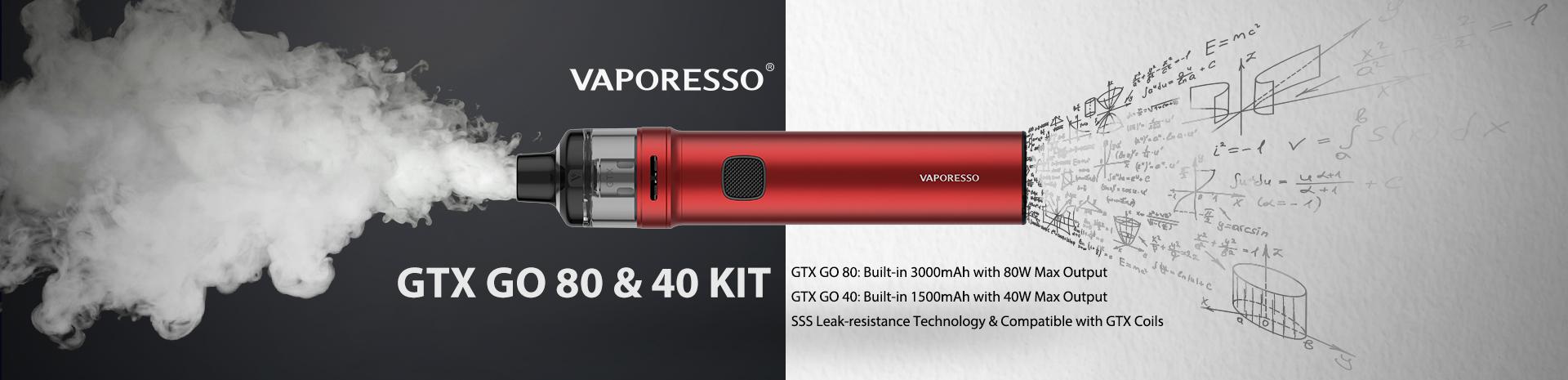Vaporesso GTX GO 40 and 80 Kit Banner