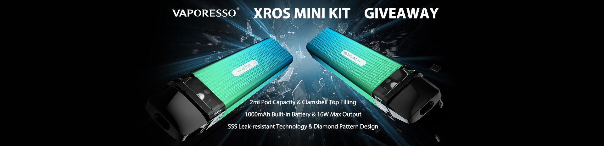 Vaporesso XROS Mini Kit Giveaway Banner