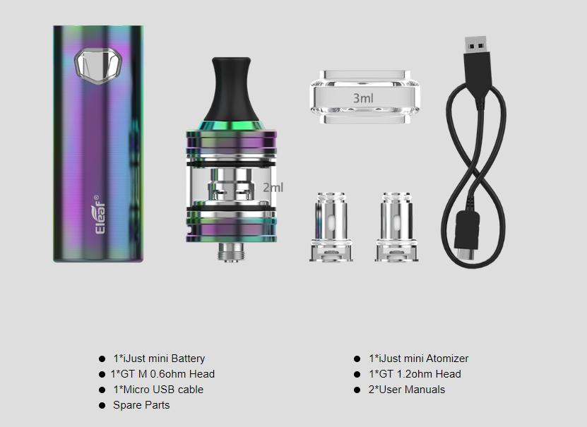 iJust Mini Vape Kit Package