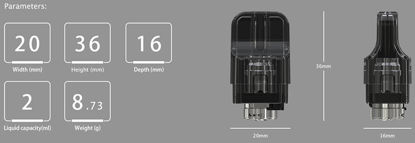 iTap Pod Cartridge Parameters